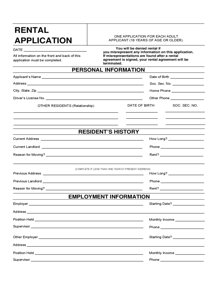 wisconsin rental application form free download