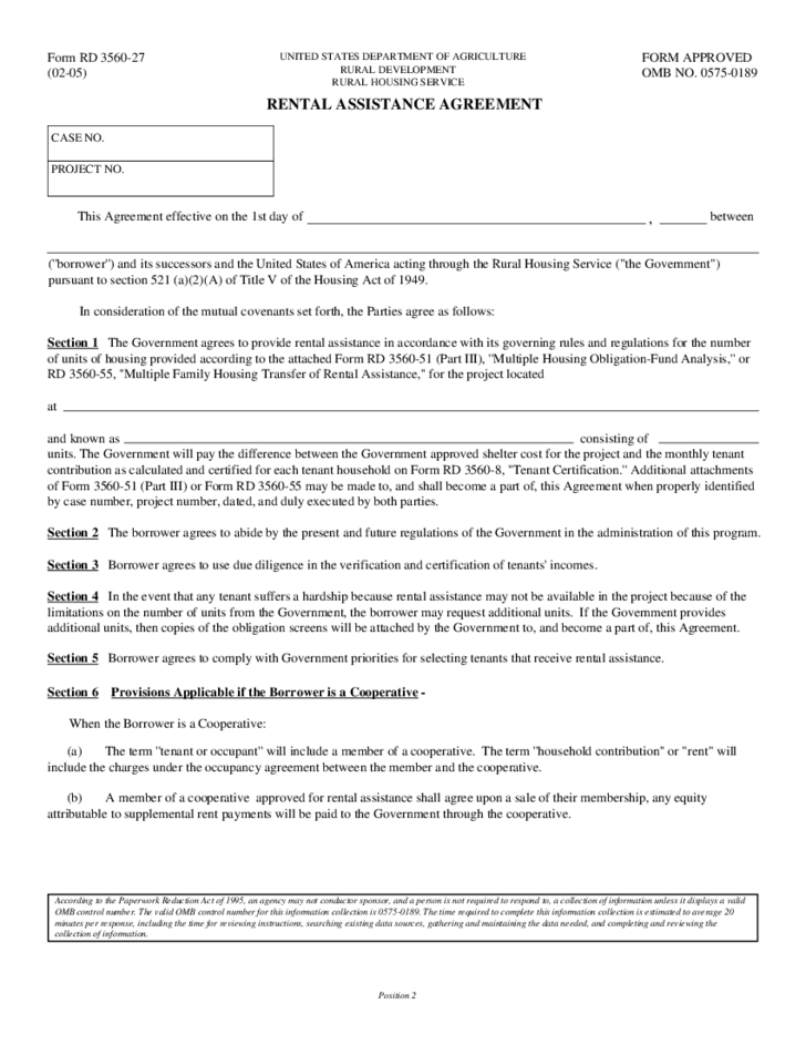 1 rental assistance template - Rental Assistance Form