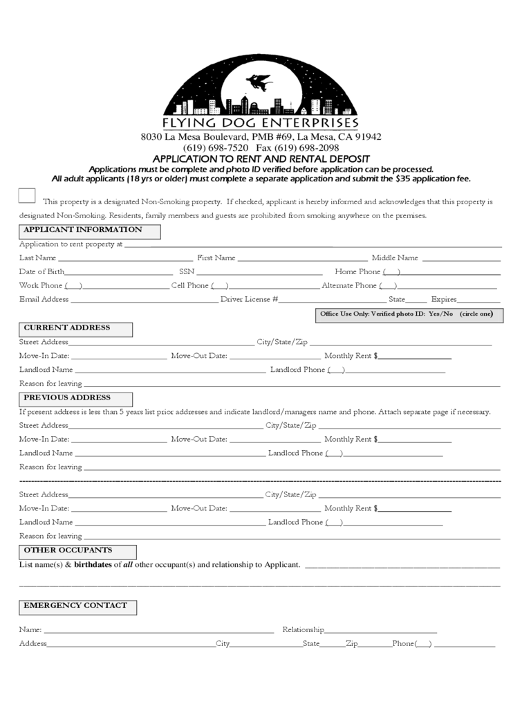 Rental Deposit Sample Form