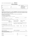 Rental History Form Template Free Download