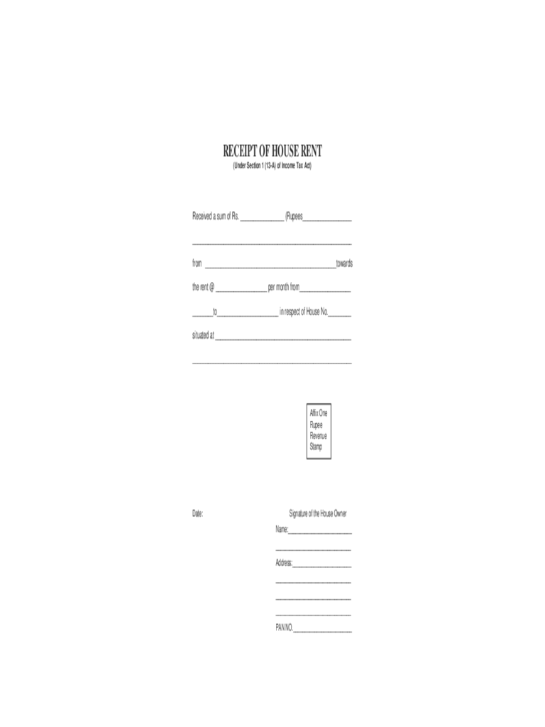 Doc585627 Rental Slip Format Rent Receipt Template 9 Free – Receipt of House Rent Format