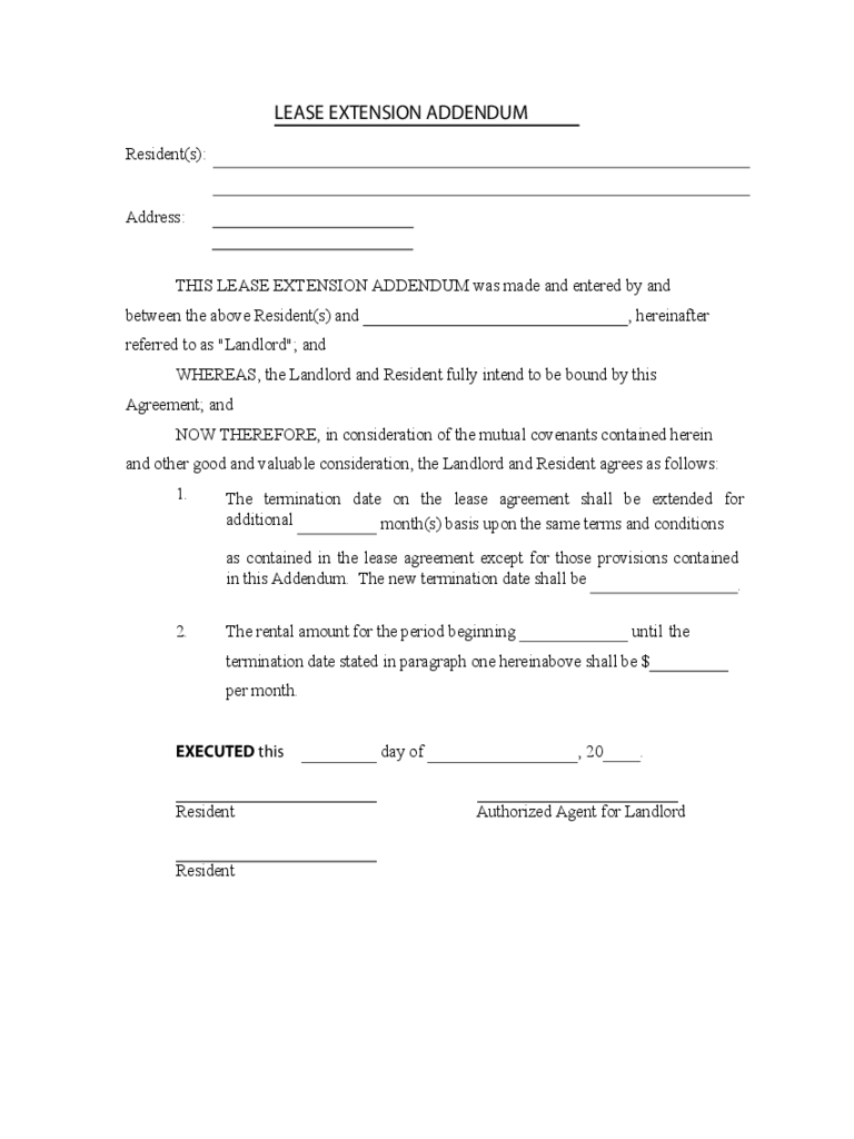 Residential Lease Renewal Form Zrom