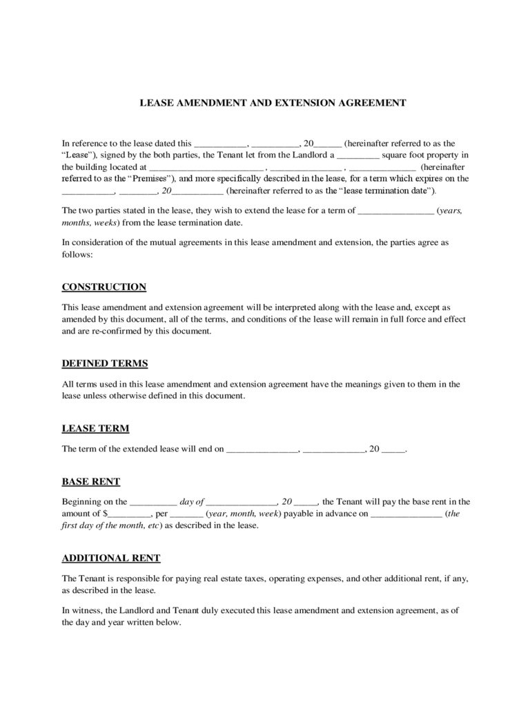 RESIDENTIAL LEASE APPLICATION U2013 HAR.com Lease Extension Form