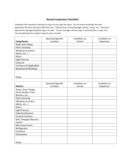 Rental Walk Through Sample Form Free Download