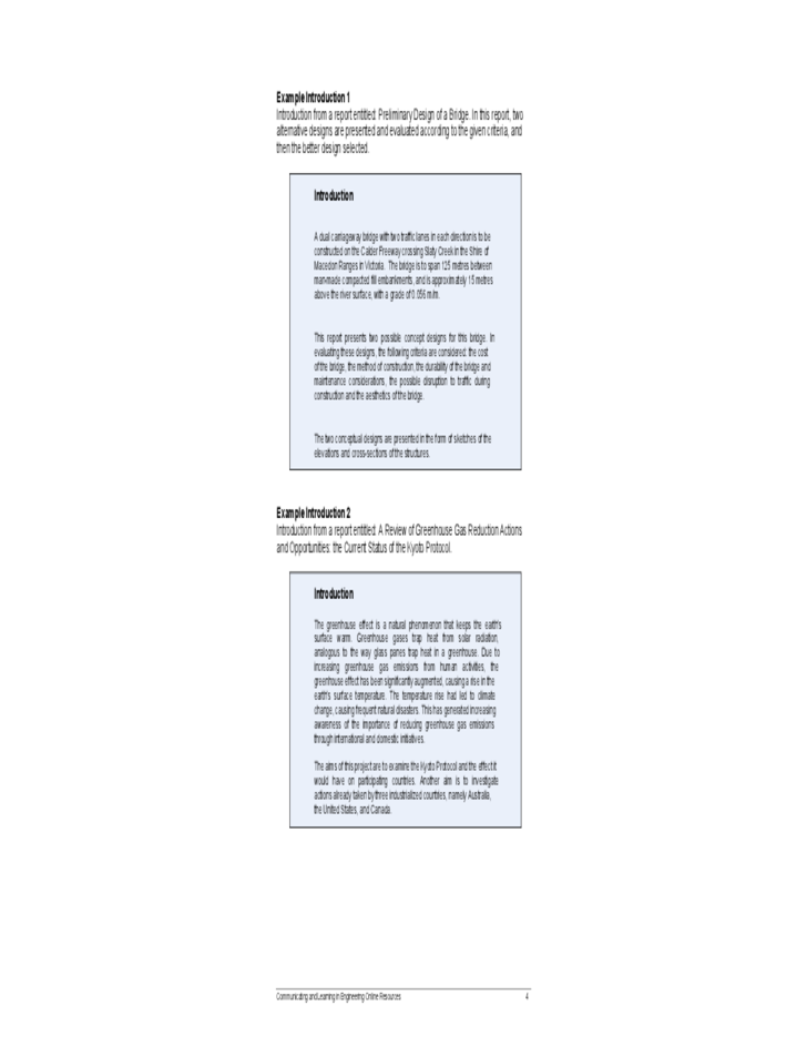 Engineering Report Writing Guidelines