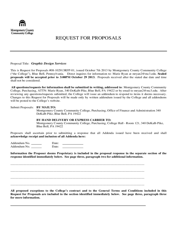 how to write a request for proposal Introduction as a business professional in a management capacity, there may be a time when you are required to write a request for proposal, commonly known as an rfp.