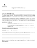 Request for Proposal - Alabama Free Download