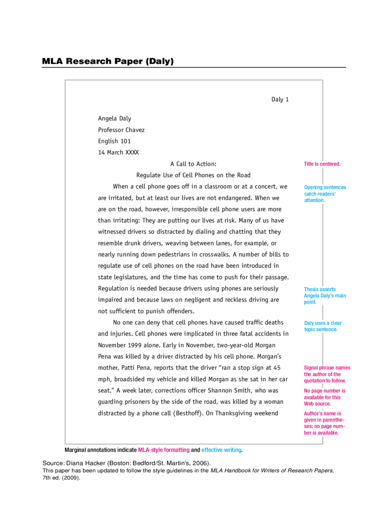 MLA Research Paper Free Download