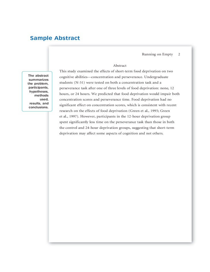 apa format research paper sections Standard parts of an apa paper apa section headings: apa document format encourages some instructors may require them in.