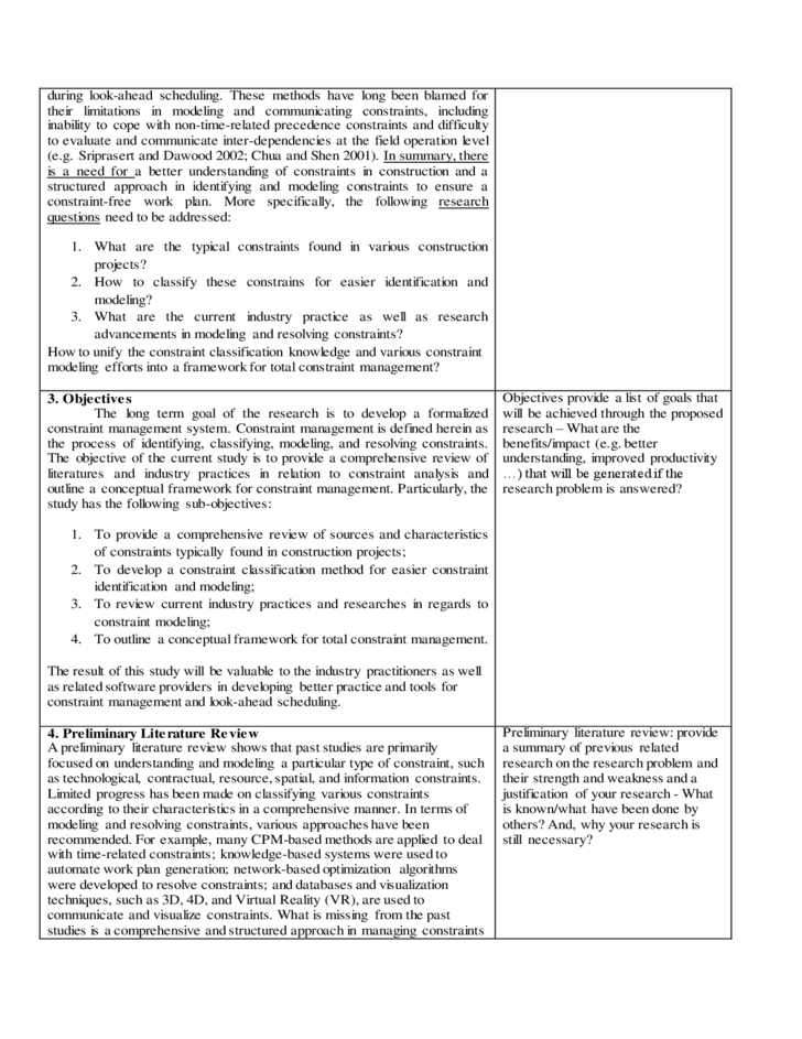 Information Systems example of a research paper proposal