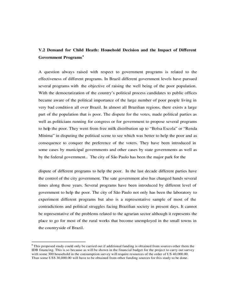 Research proposal on poverty