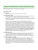 Example of a Research Proposal of Clinical Research Project Free Download