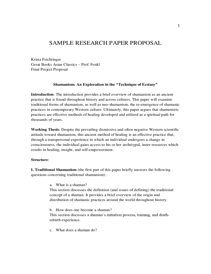 Sample apa research proposal