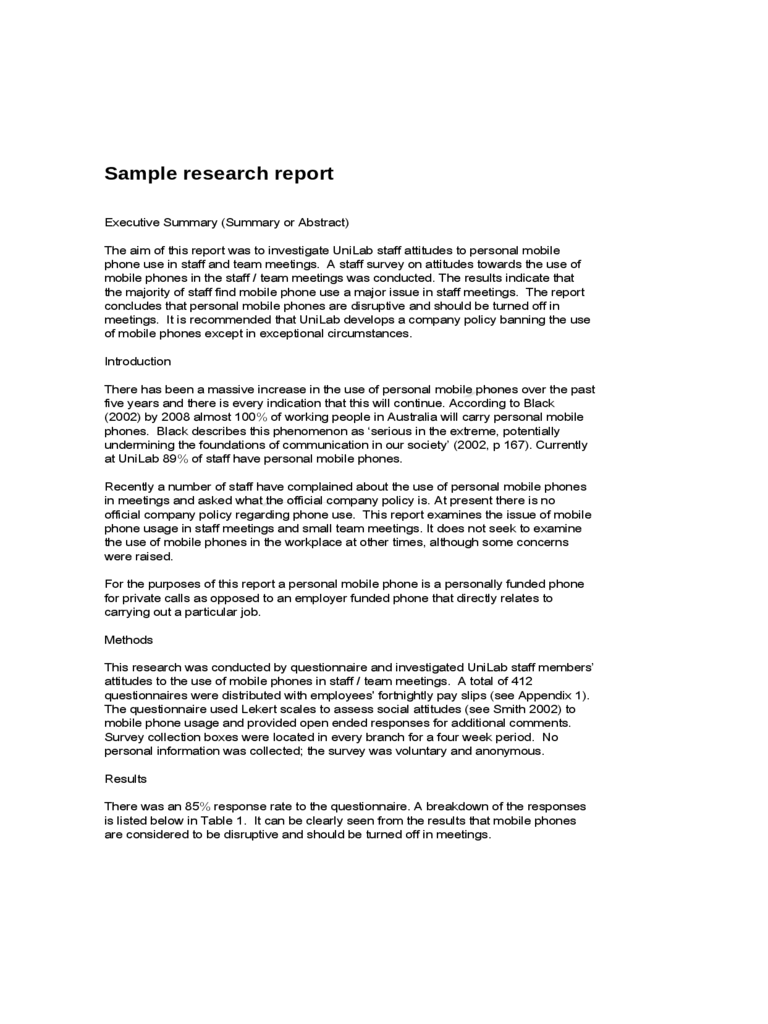 Sample Research Report - RMIT University