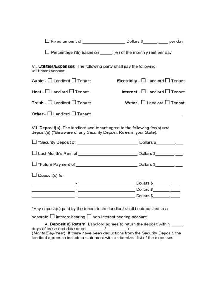 alabama residential lease agreement template .