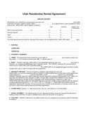 Utah Residential Lease Agreement