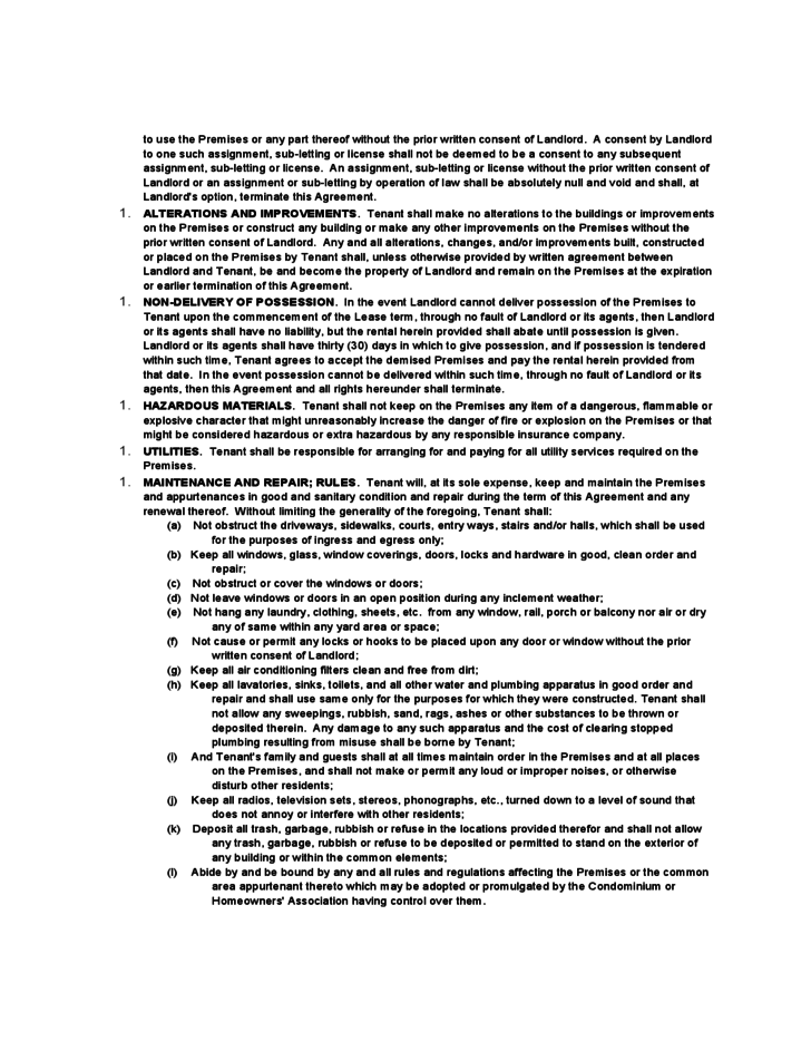 Alaska Residential Lease Agreement Free Download