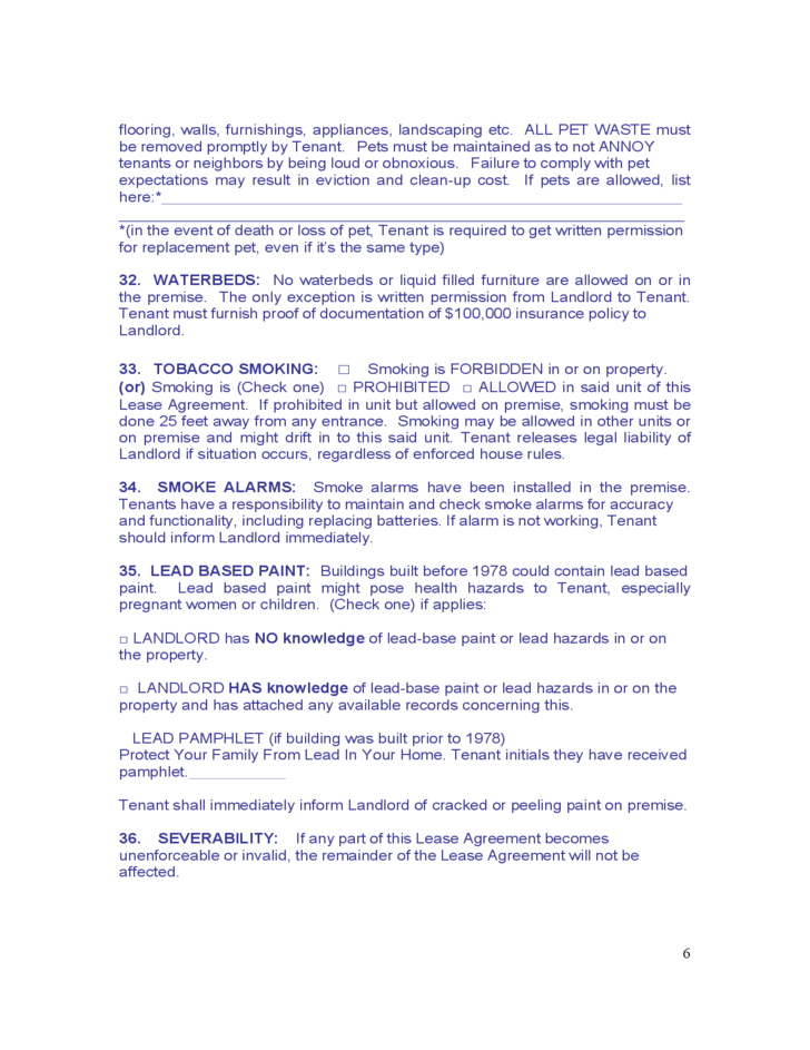 South Dakota Residential Lease Agreement Free Download