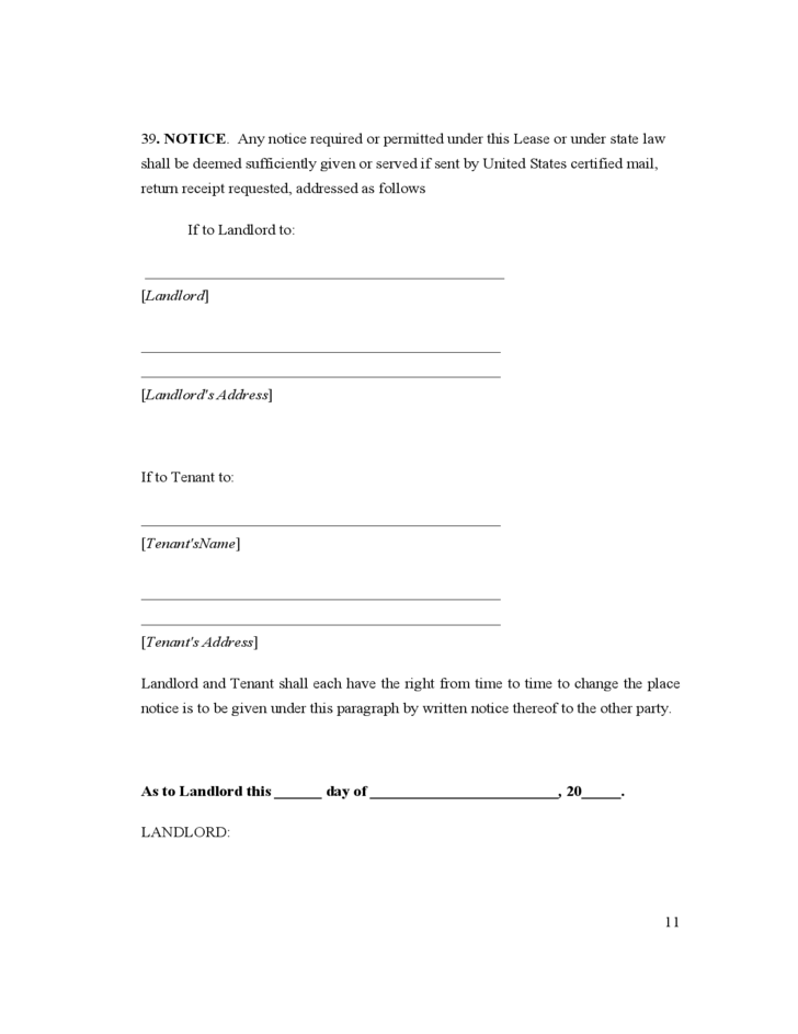 Rhode Island Residential Lease Agreement Free Download