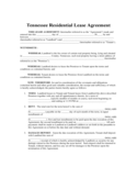 Tennessee Residential Lease Agreement Form