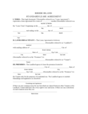 Rhode Island Standard Residential Lease Agreement