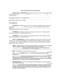 Wisconsin Standard Residential Lease Agreement