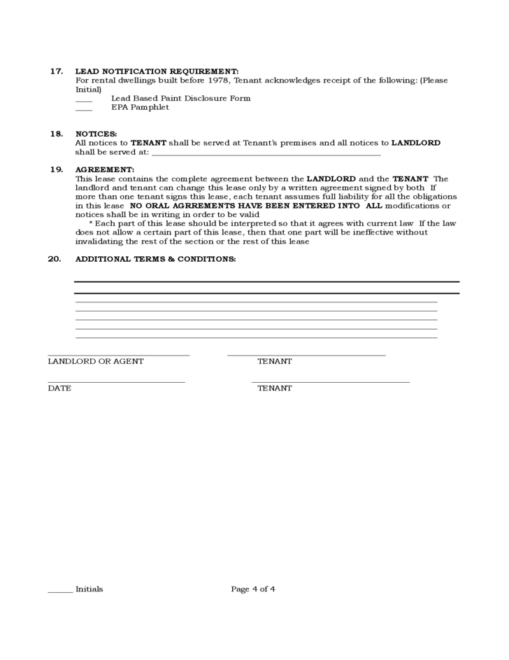 Pennsylvania Standard Residential Lease Agreement Free Download