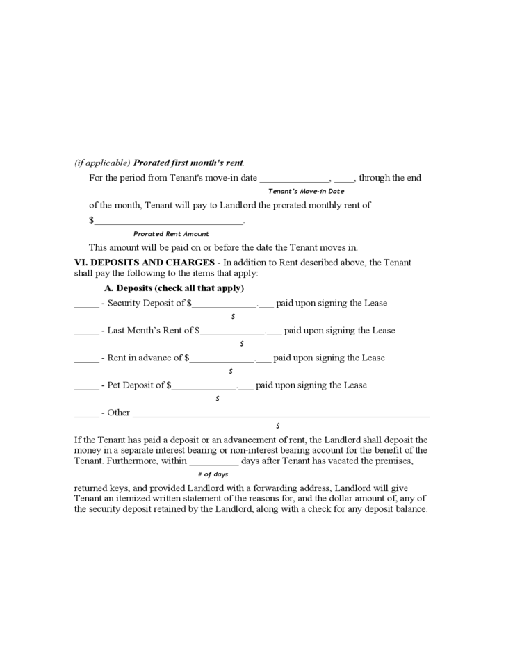 West Virginia Residential Lease Agreement Form Free Download