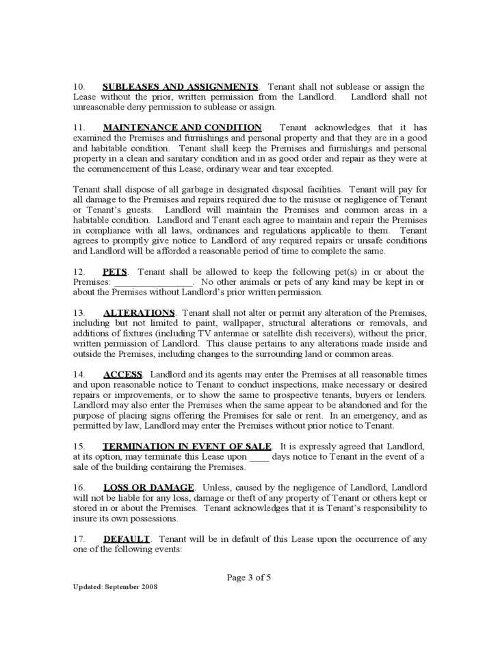 Kentucky Residential Lease Agreement Free Download
