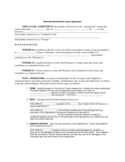 Nebraska Residential Lease Agreement Form
