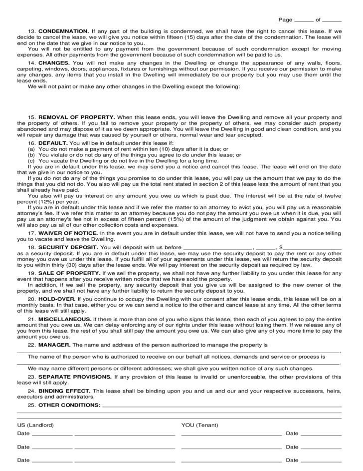 Connecticut Residential Lease Agreement