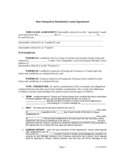 New Hampshire Standard Residential Lease Agreement