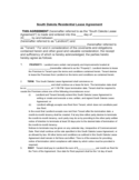 Residential Lease Agreement - South Dakota