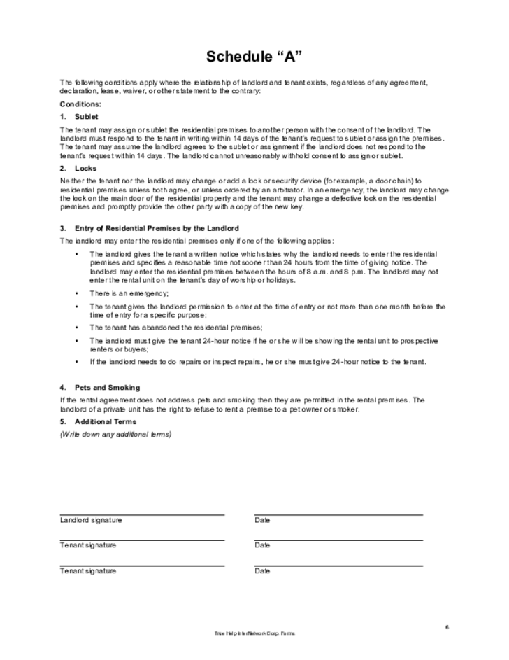 Alberta Rental Agreement Forms Ab Lease Templates Mandegarfo