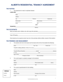 Residential Lease Agreement - Alberta