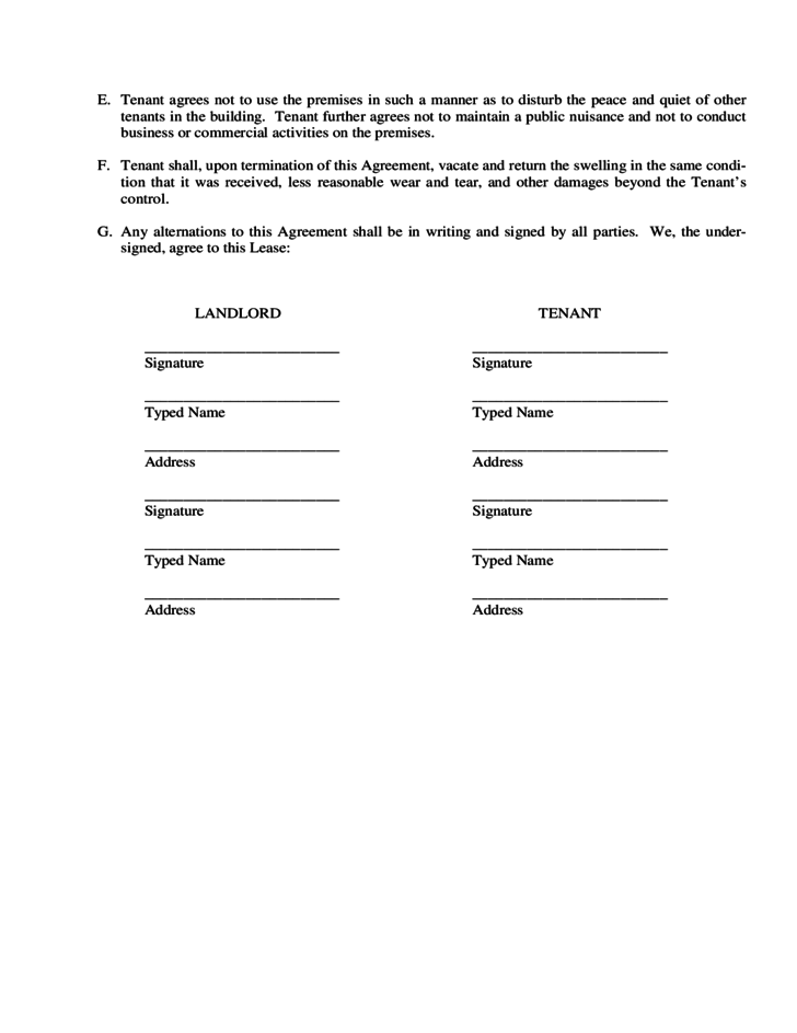 Landlord Lease Agreement Form Pennsylvania Free Download – Landlord Agreement Template