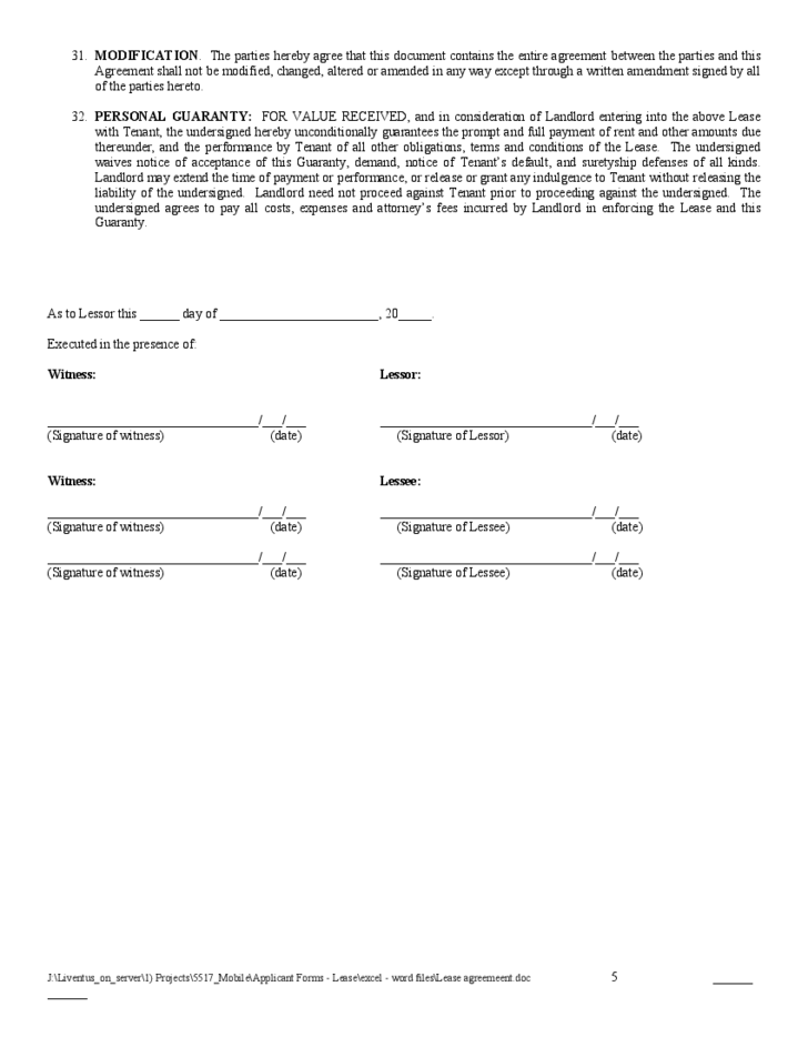 Simple Blank Rental Agreement  Blank Lease Agreement