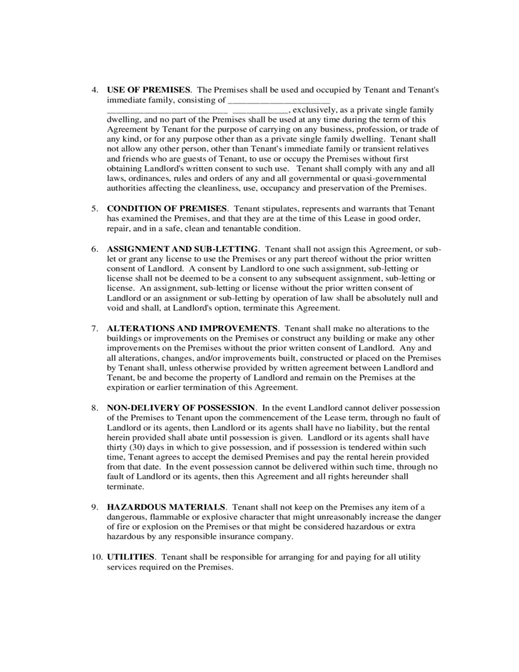 Residential Lease Agreement Tennessee Free Download