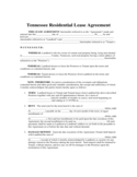 Residential Lease Agreement - Tennessee