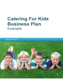 Catering for Kids Business Plan Free Download