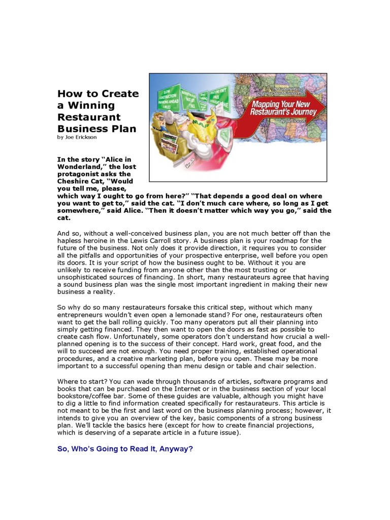 restaurant business plan 6 free templates in pdf word excel download