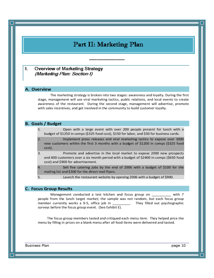 Blank restaurant business plan template free download 10 blank restaurant business plan template maxwellsz