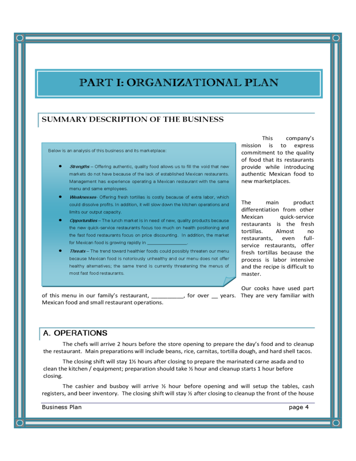 restaurant business plan free Those in the food and service industries can help improve the availability, profit and revenue with their restaurants and cafes with this free, printable business plan.