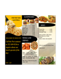 Restaurant Menu Sample Free Download