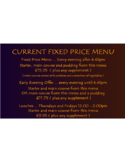 Fixed Price Menu Template Free Download