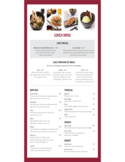 Lunch Menu of a Janpanese Restaurant Free Download