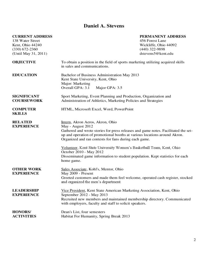 2 Sample Resume Cover Letter