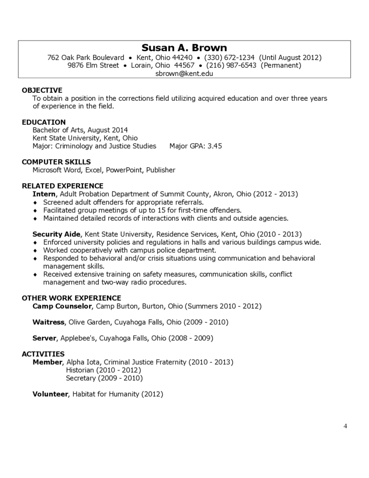 4 Sample Resume Cover Letter
