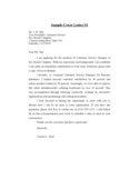 Sample Cover Letter for Resume Free Download