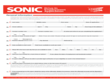 Sonic Drive-in Employment Application Form